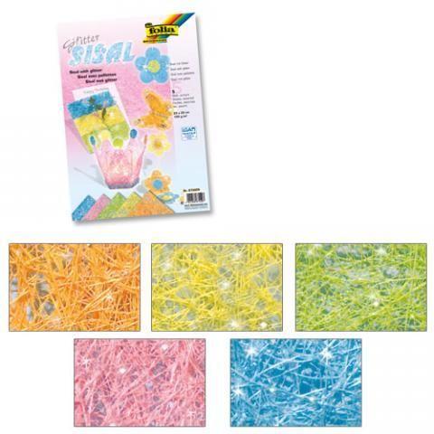 Sisal sädelev 23x33cm 5 pastell värvi