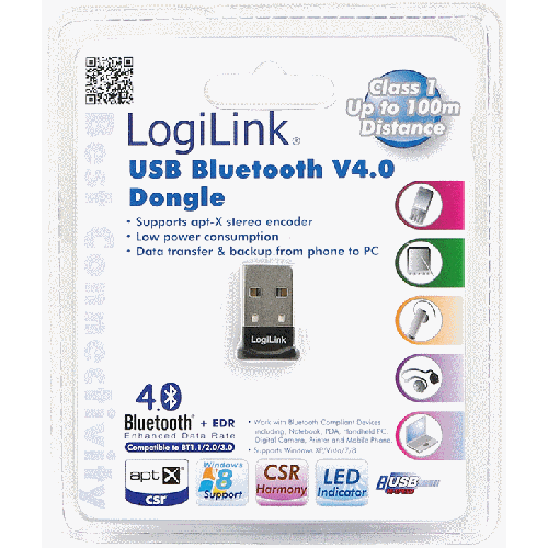 Bluetooth USB adapter V4.0+EDR kuni 100m