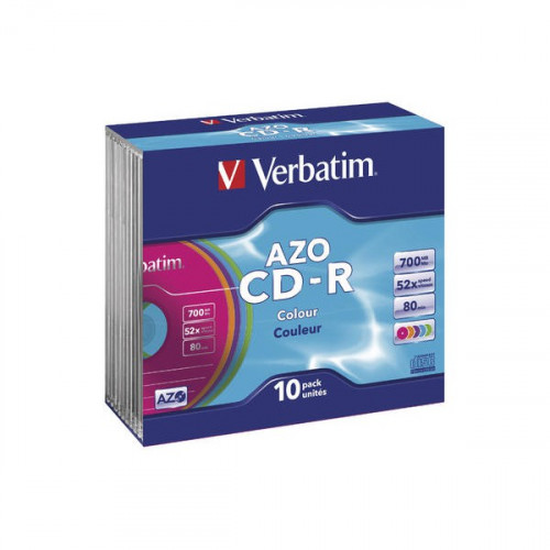 CD-R Verbatim AZO Color Slim
