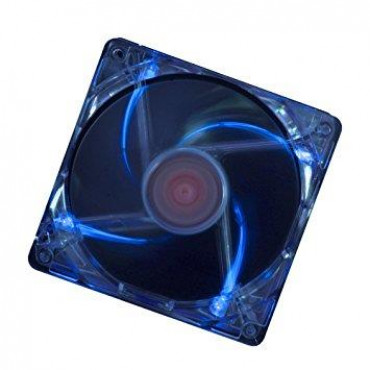 CASE FAN 120MM TRANSP 3PIN+4P/BLUE XF044 XILENCE