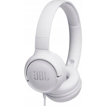 Kõrvaklapid JBL T500 on-ear white