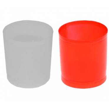 Küünlatops plast h5,5,d5cm 40ml red