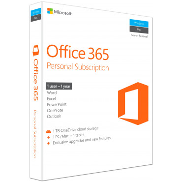 MS Office 365 Personal ENG 1PC/Mac 1a