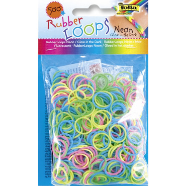Rubber Loops 500tk/pk neoon helendav