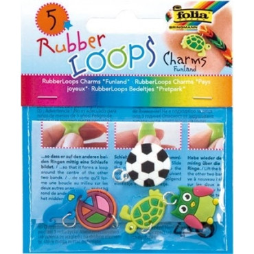 Rubber Loops Charms Funland 5tk mix