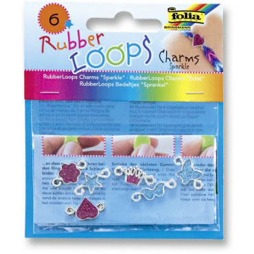 Rubber Loops Charms Sparkle 6tk 2 värvi